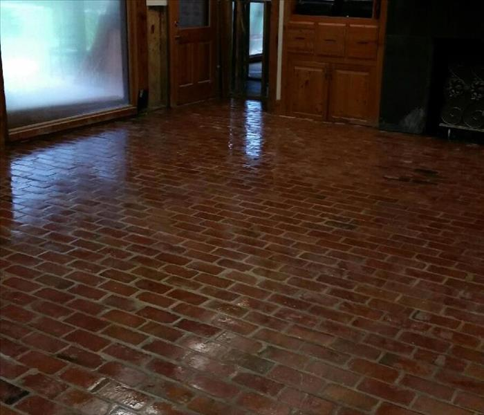Brick Floor Cleaning After