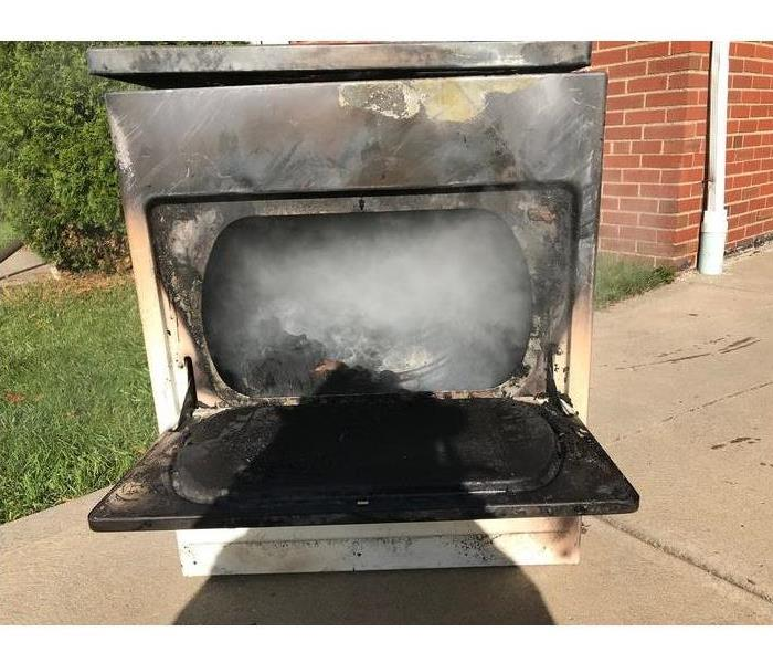 clothes dryer burned black